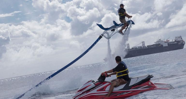 Enjoy the beautiful blue water of Saipan